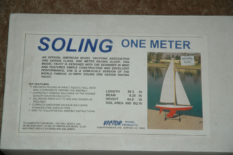 Victor Soling 1 Meter R/C Sailboat Kit AMYA New-in-Box